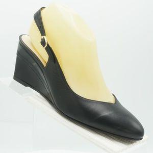 Ukies Queen Size 7.5 Black Sling Back Shoes Women